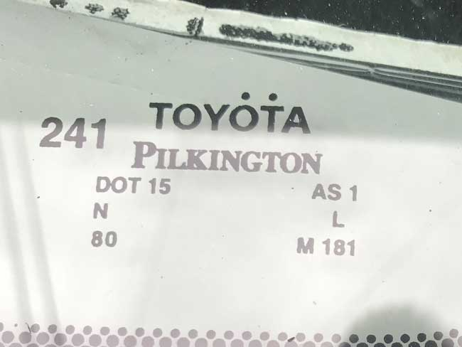 Pilkington windshield